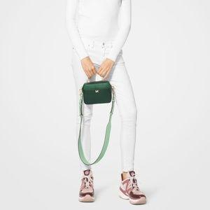 93b75a8222ba Michael Kors Bags - MICHAEL KORS Mott Mini Color-Block Pebbled Leather